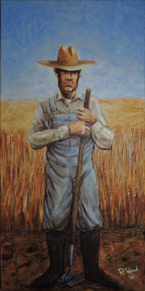 "Wheat Farmer 10 x 20"" canvas"